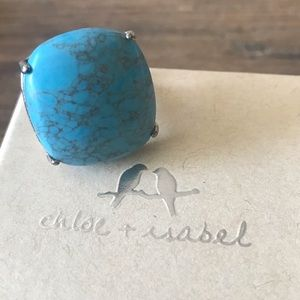 Vintage Coral Branch Turquoise Ring